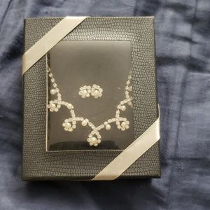 Diamond Pearl Necklace /Earrings